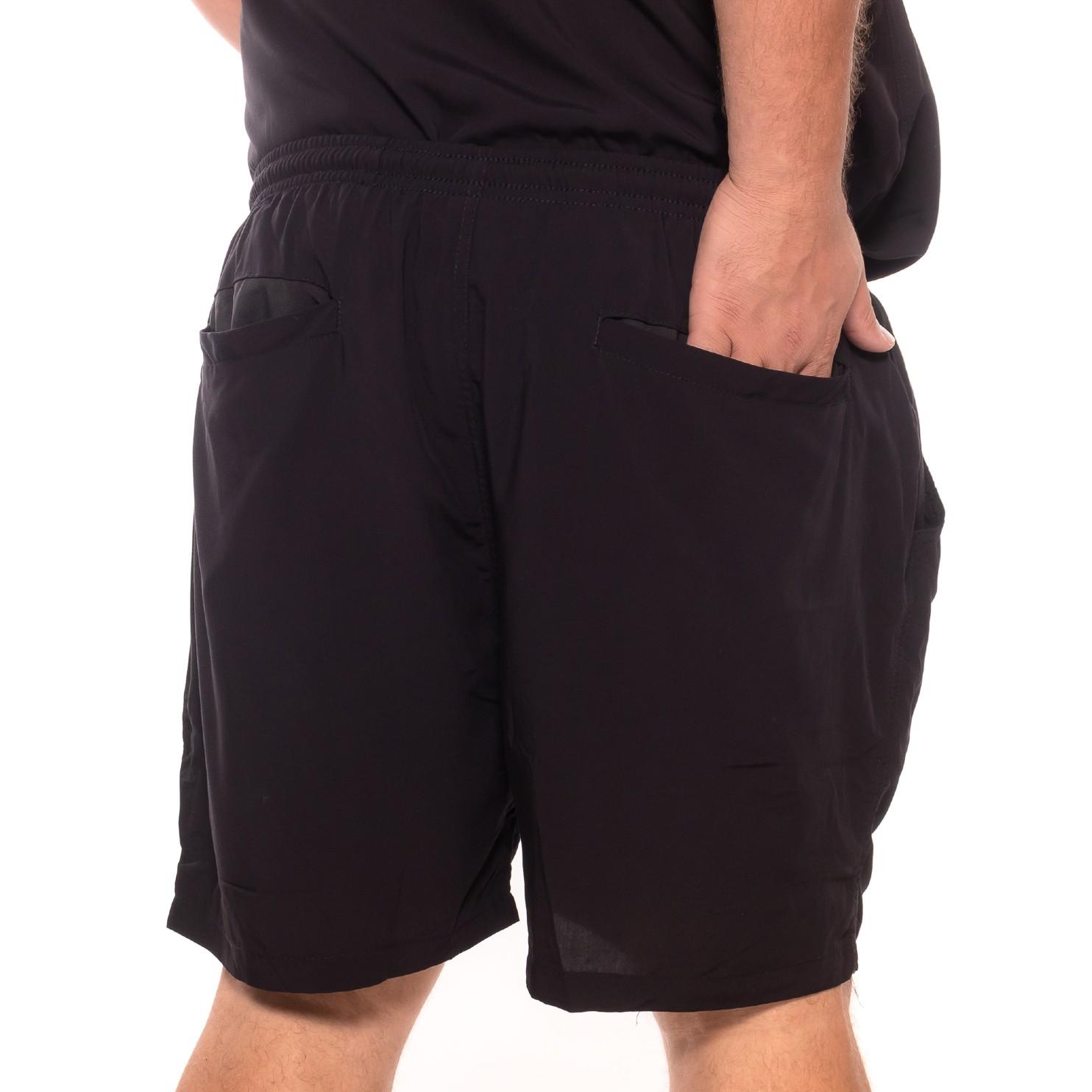 Shorts plus size Summer Viscose Preto