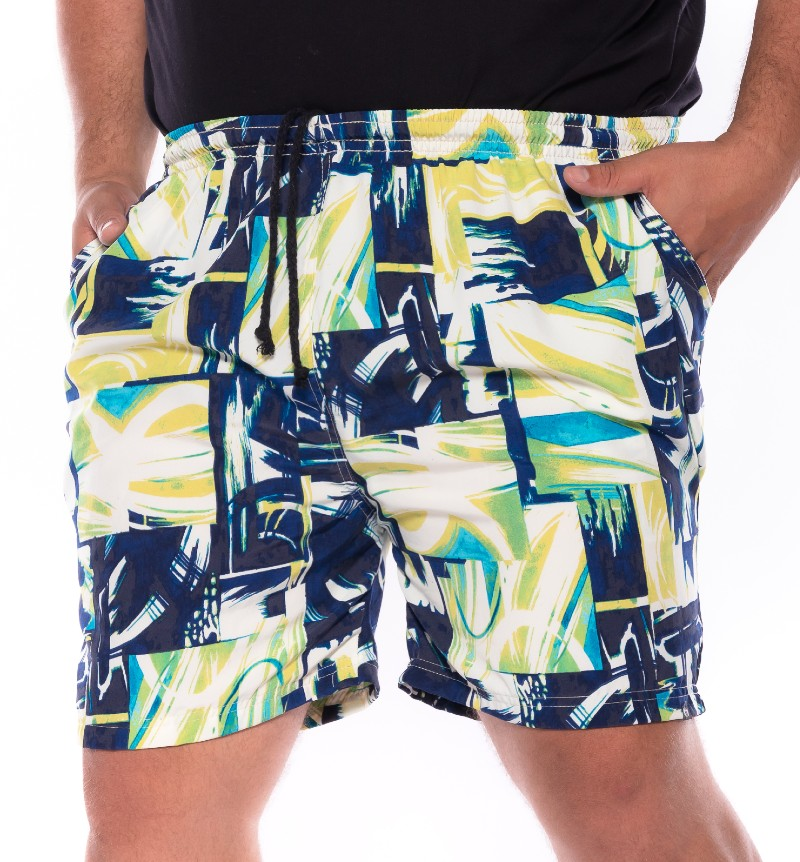 Swim Shorts plus size Praia Abstract