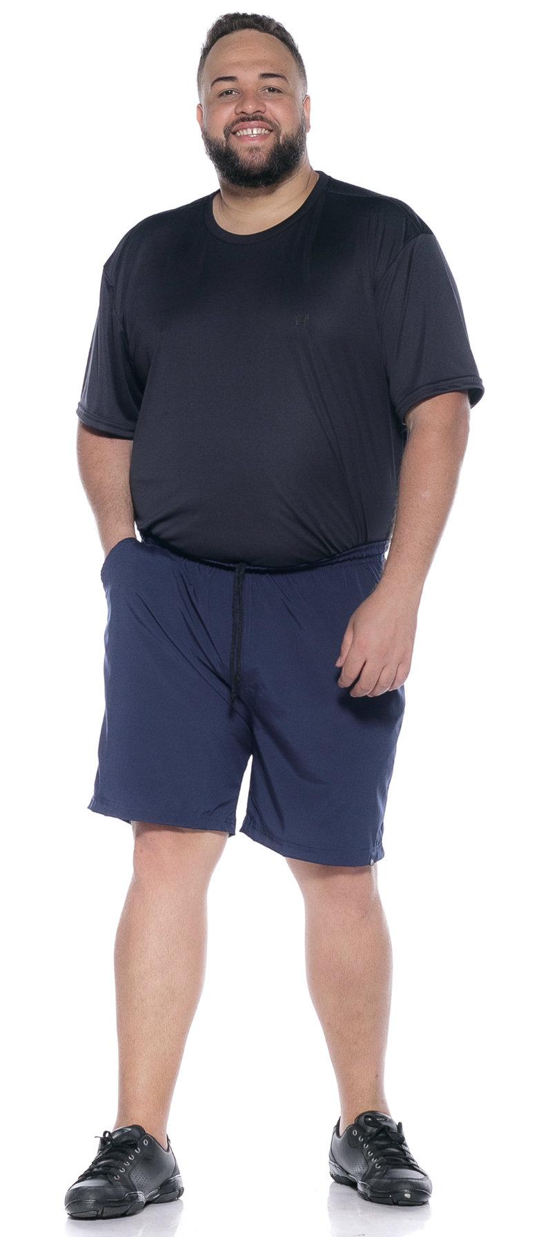 Shorts plus size Água Azul Marinho