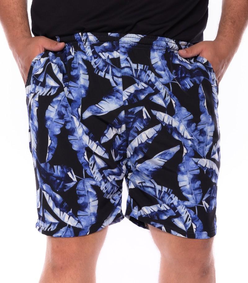 Swim Shorts plus size Praia Folha Azul