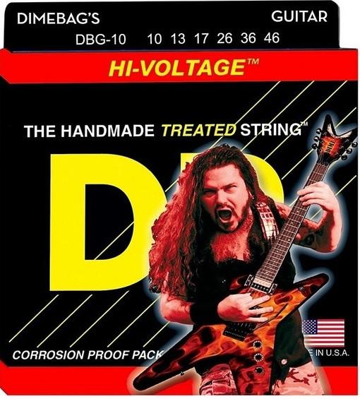 Encordoamento DR Strings Dimebag Darrell Hi-voltage Guitarra 10-46