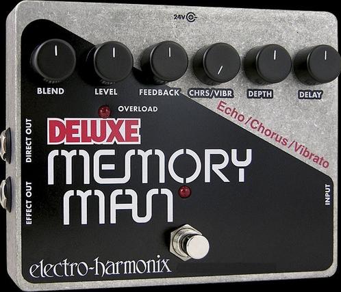 Pedal Electro-Harmonix Memory Man Deluxe Echo/Chorus/Vibrato  - GuitarParts Brasil