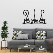 Adesivo Recortado Três Gatos