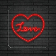 Love - Painel Neon Led