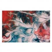 Quadro Abstrato Branco e Vermelho