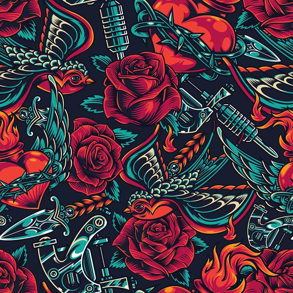 Adesivo de Parede Flores e Arte