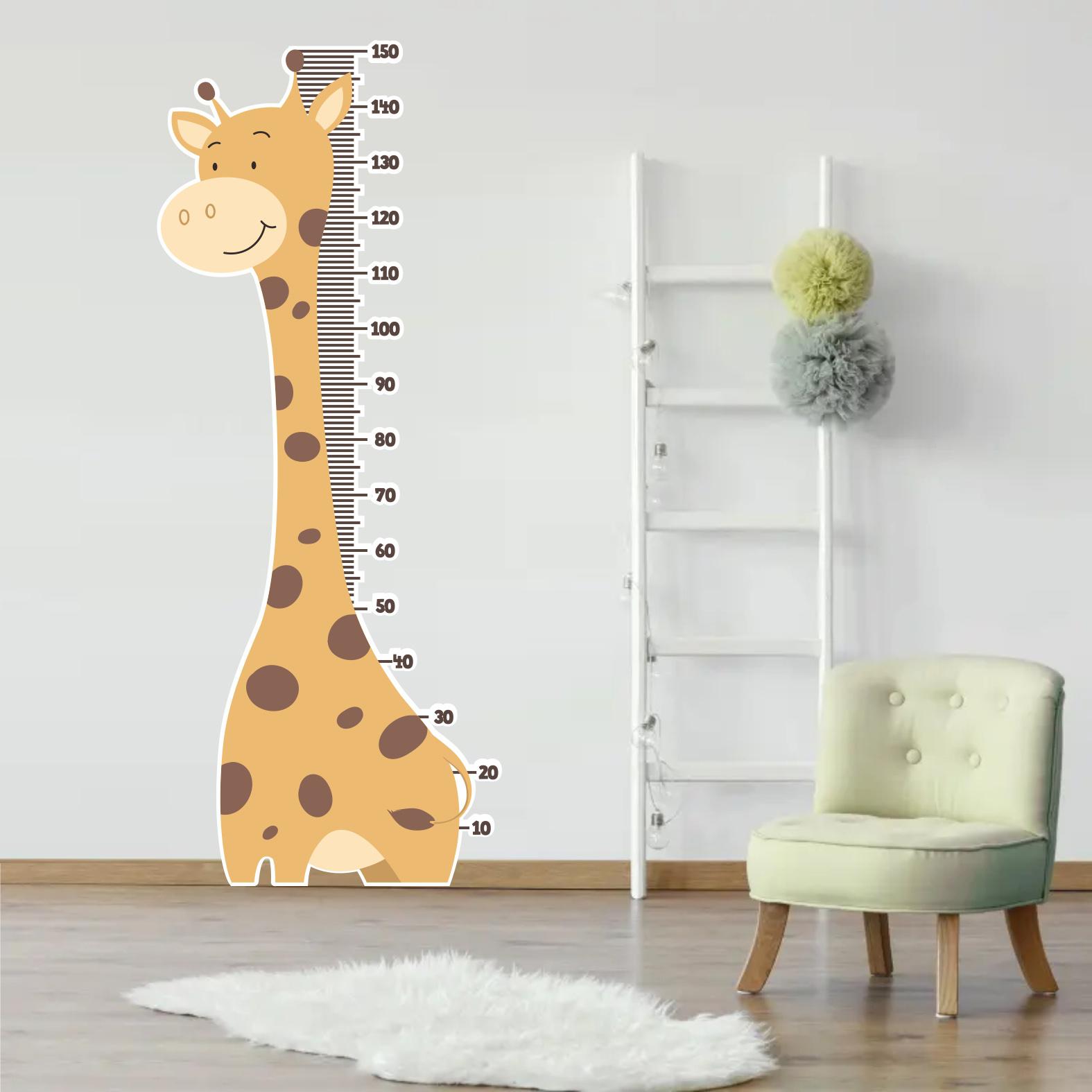 Adesivo de Parede Recortado - Régua e Girafa