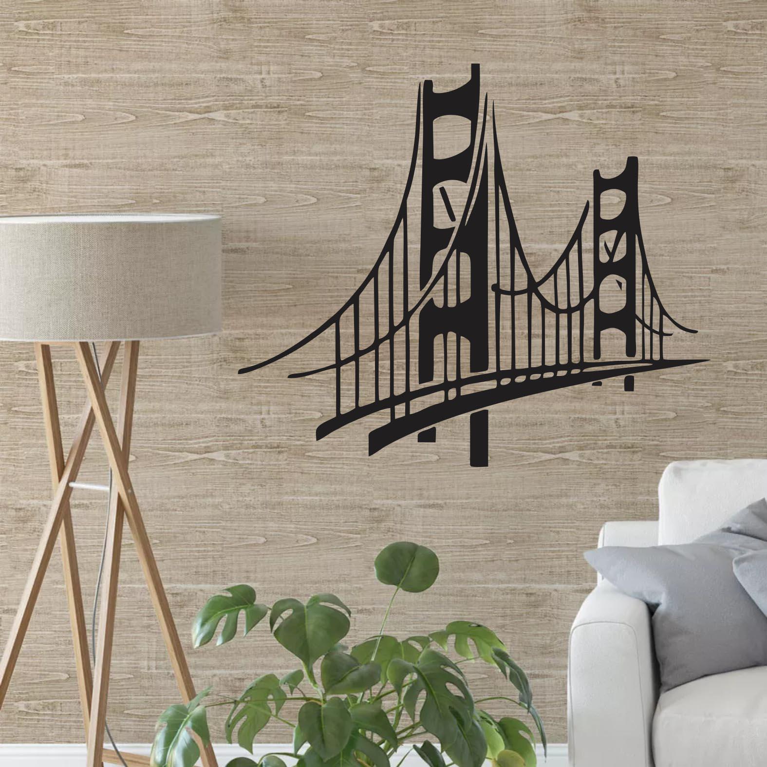 Adesivo de Parede Golden Gate