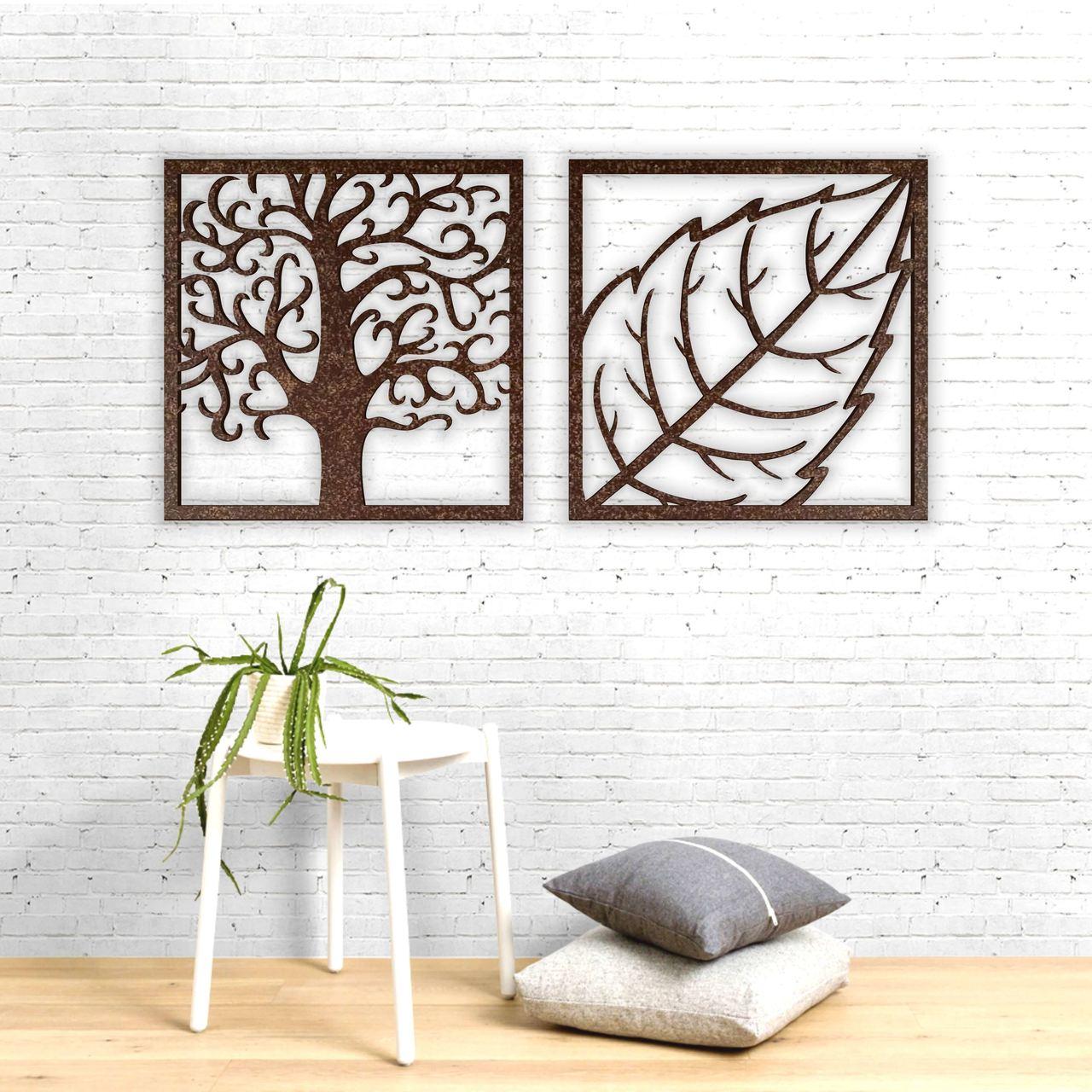 Árvore e Folha Recortados