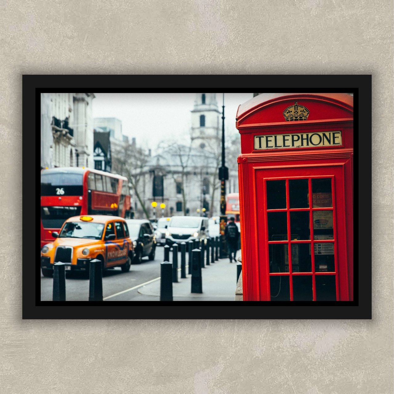 Cabine telefonica de londres-Quadros decorativos