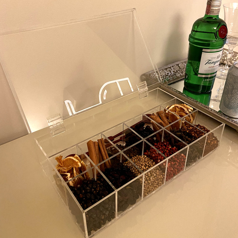 Caixa de Gin para Blend de Especiarias