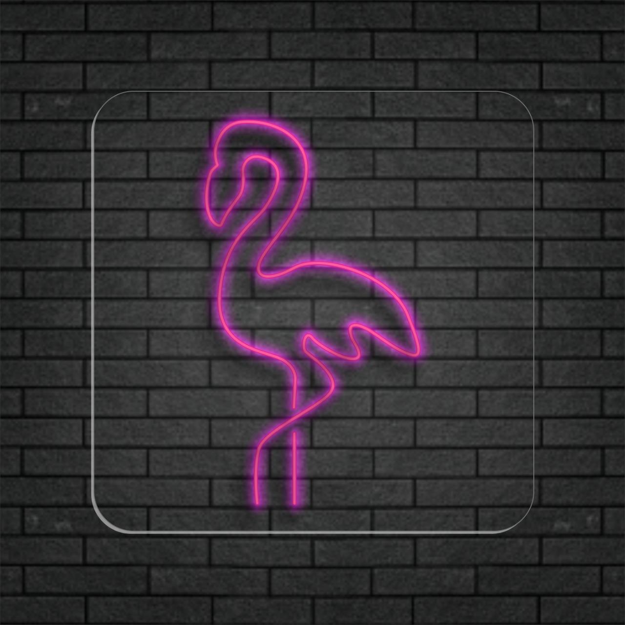 Garça Rosa - Painel Neon Led