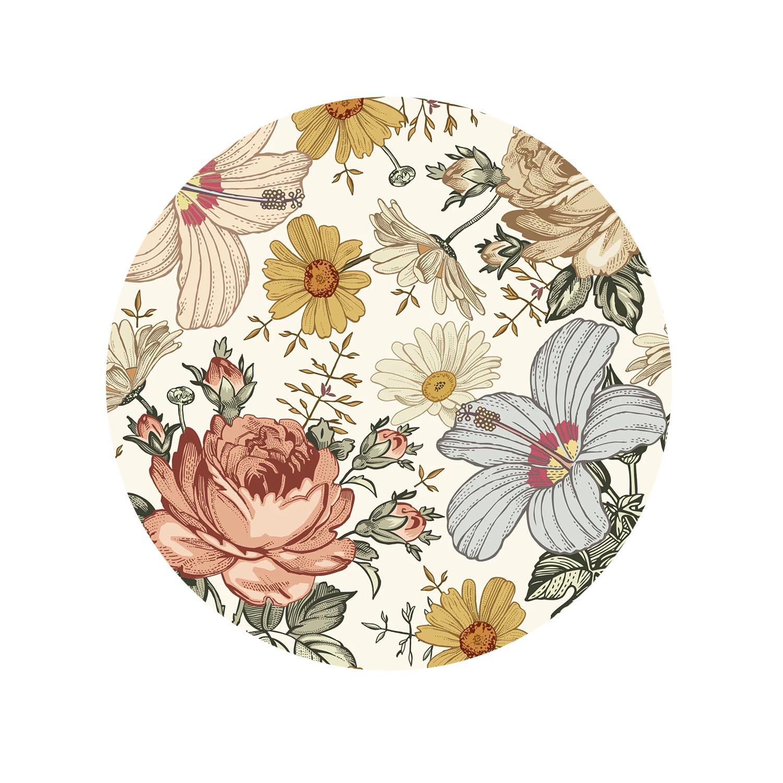 Kit Sousplat Floral Branco - 06 Peças