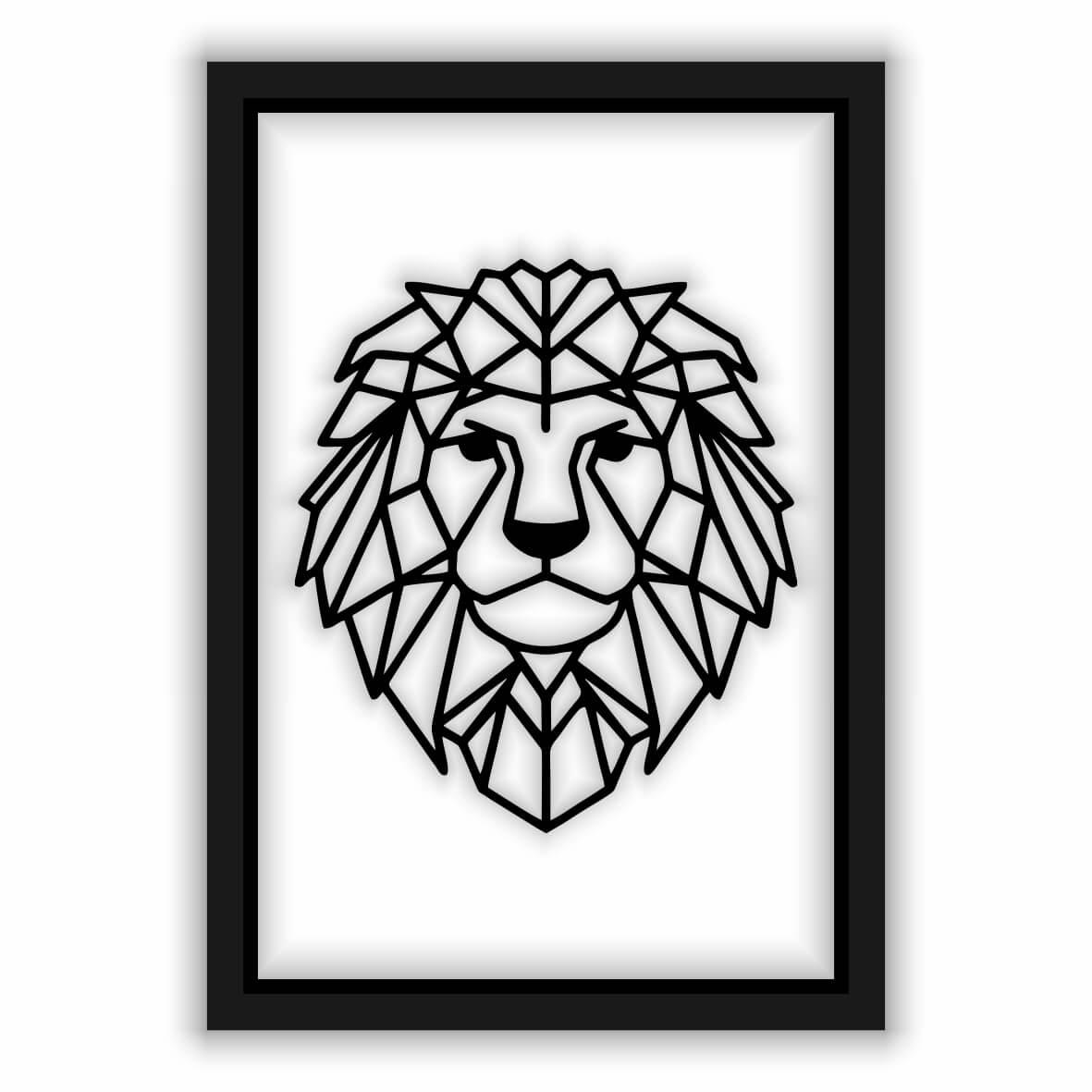 Quadro Recortado - Leão