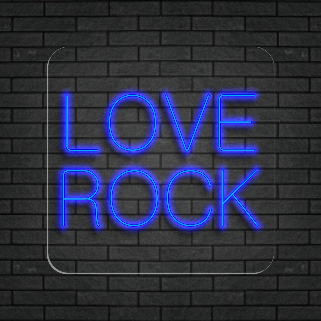 Love Rock - Painel Neon Led