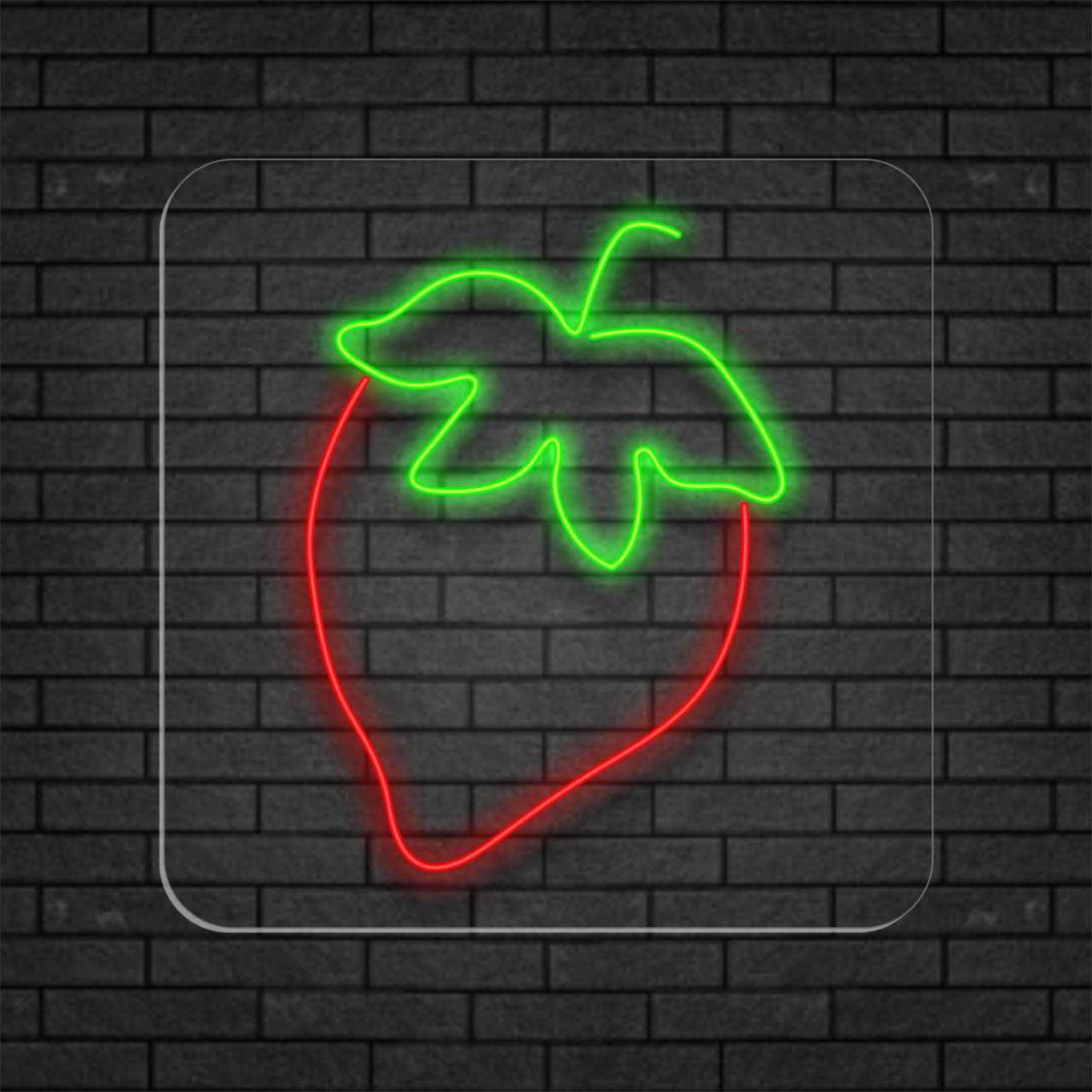 Morango em Neon Led