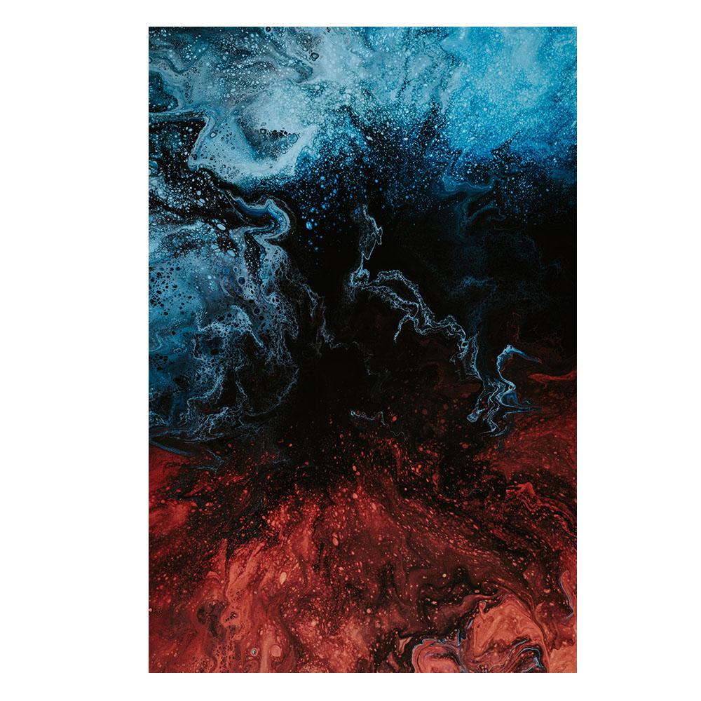 Quadro Abstrato Azul e Vermelho