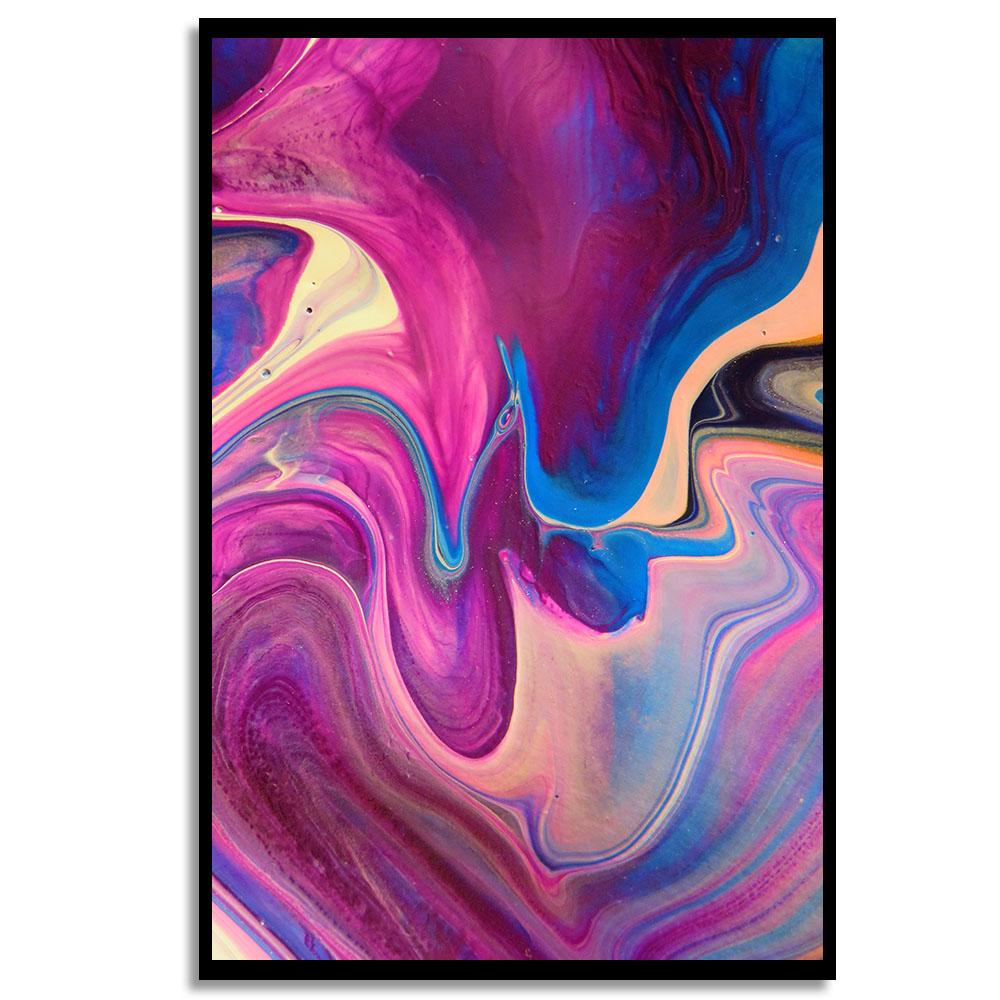 Quadro Abstrato Mix Rosa