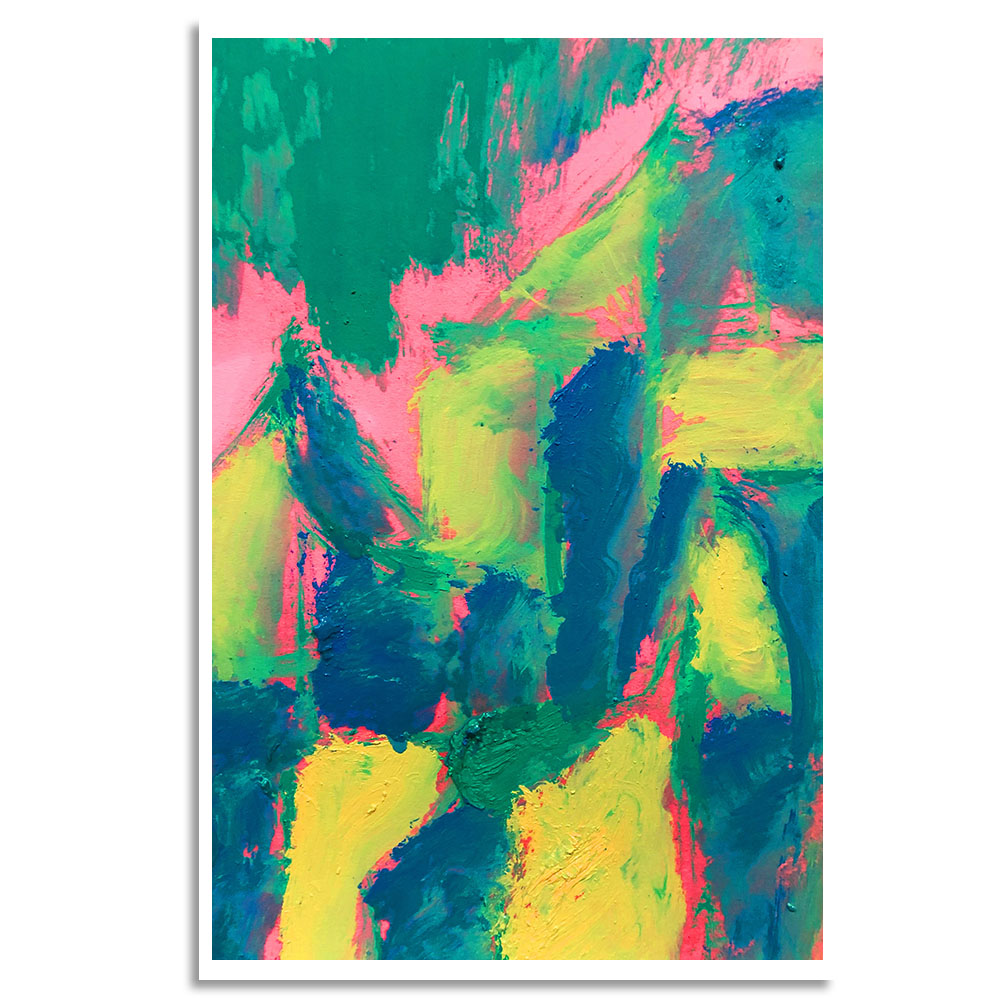 Quadro Abstrato Tons Verdes