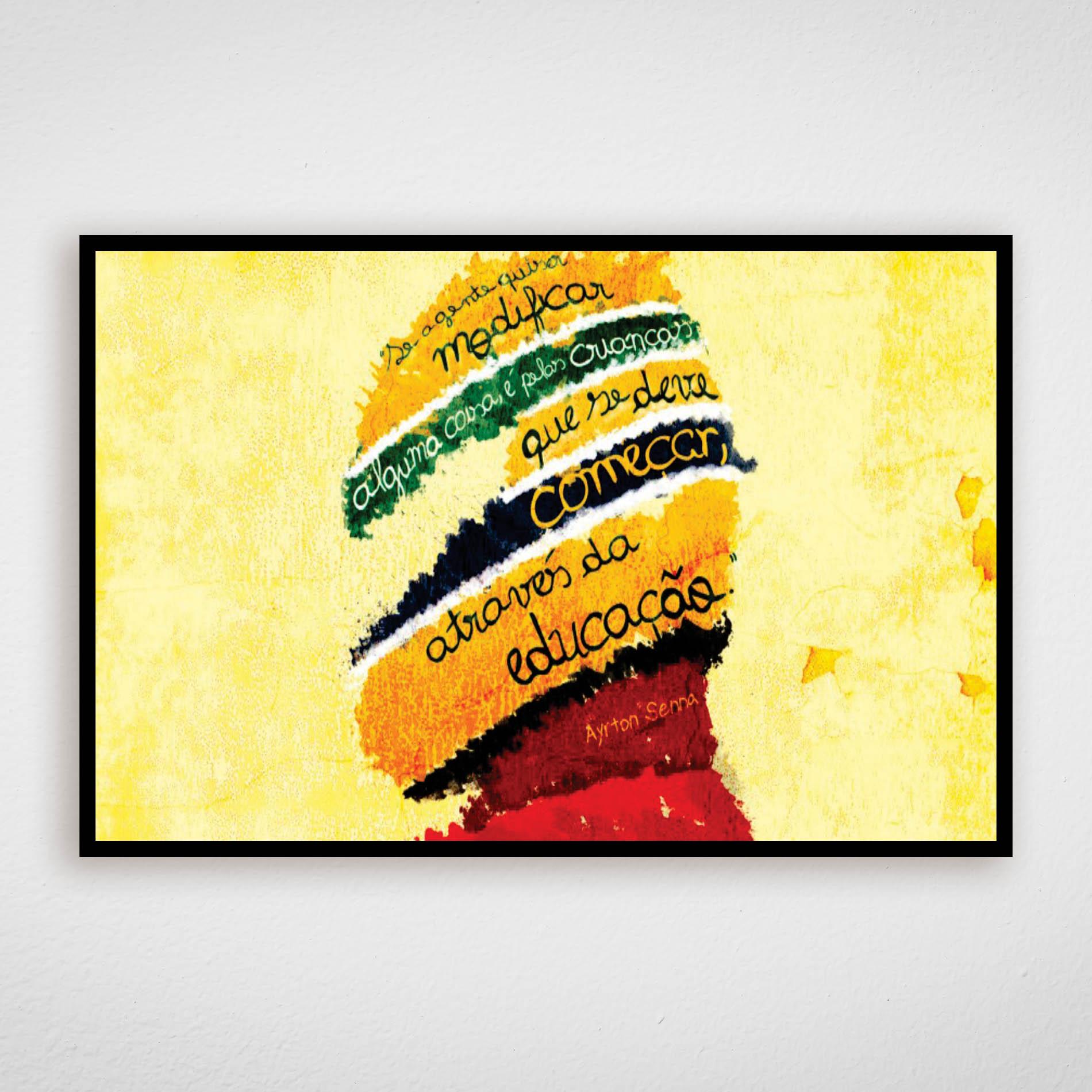 Quadro Ayrton Senna - Capacete