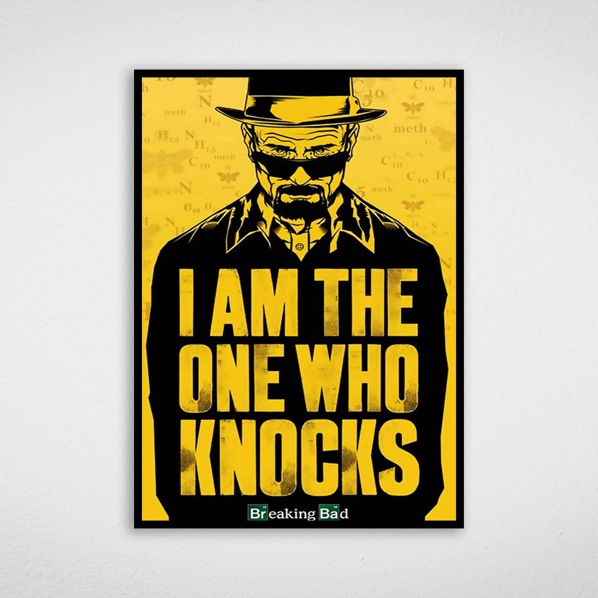 Quadro Breaking Bad - Walter White I Am The One