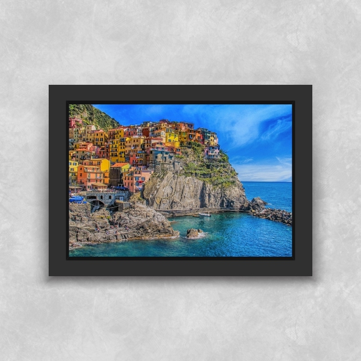 Quadro Capri - Moldura Tradicional com Vidro