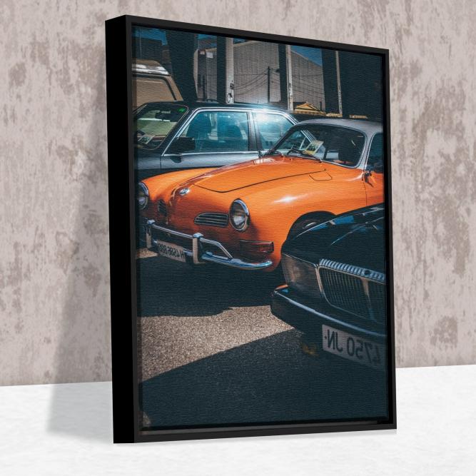 Quadro Carro Vintage - Moldura Caneleta