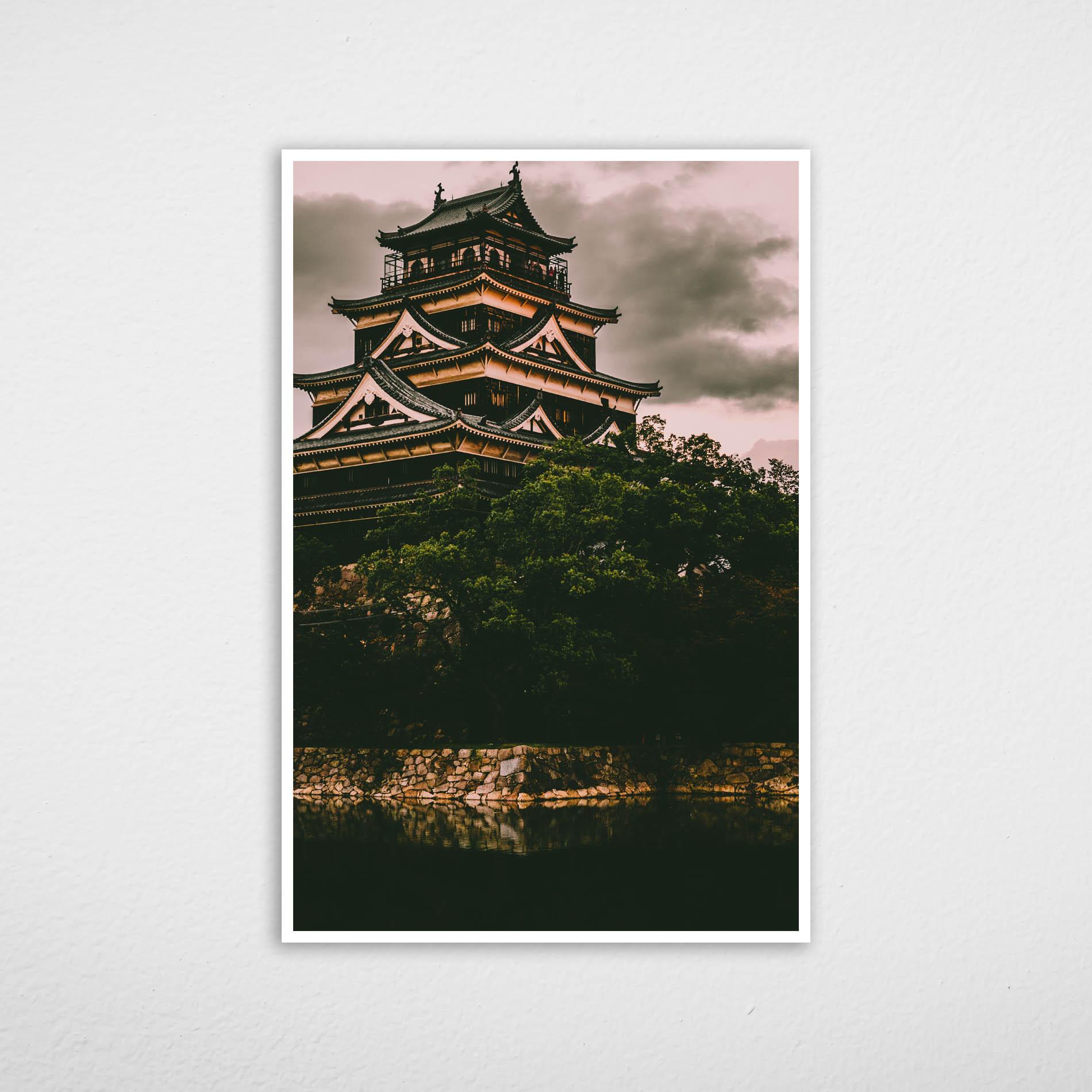 Quadro Castelo de Hiroshima - Japão