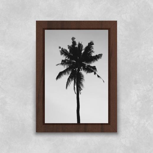 Quadro Coqueiro - Moldura Tradicional com Vidro