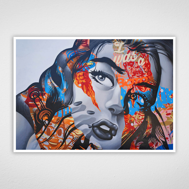 Quadro de Arte Urbana - Mulher