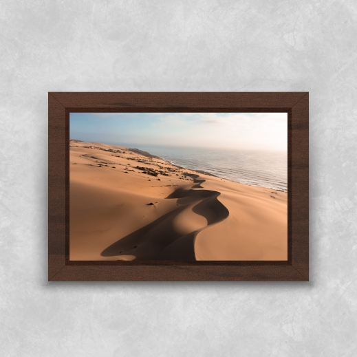 Quadro Deserto - Moldura Tradicional com Vidro