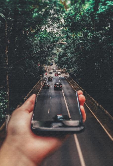 Quadro Estrada Infinita - Moldura Caneleta