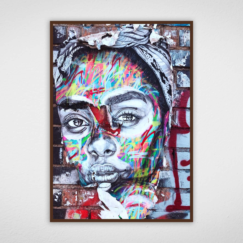 Quadro de Arte Urbana Mulher de Turbante