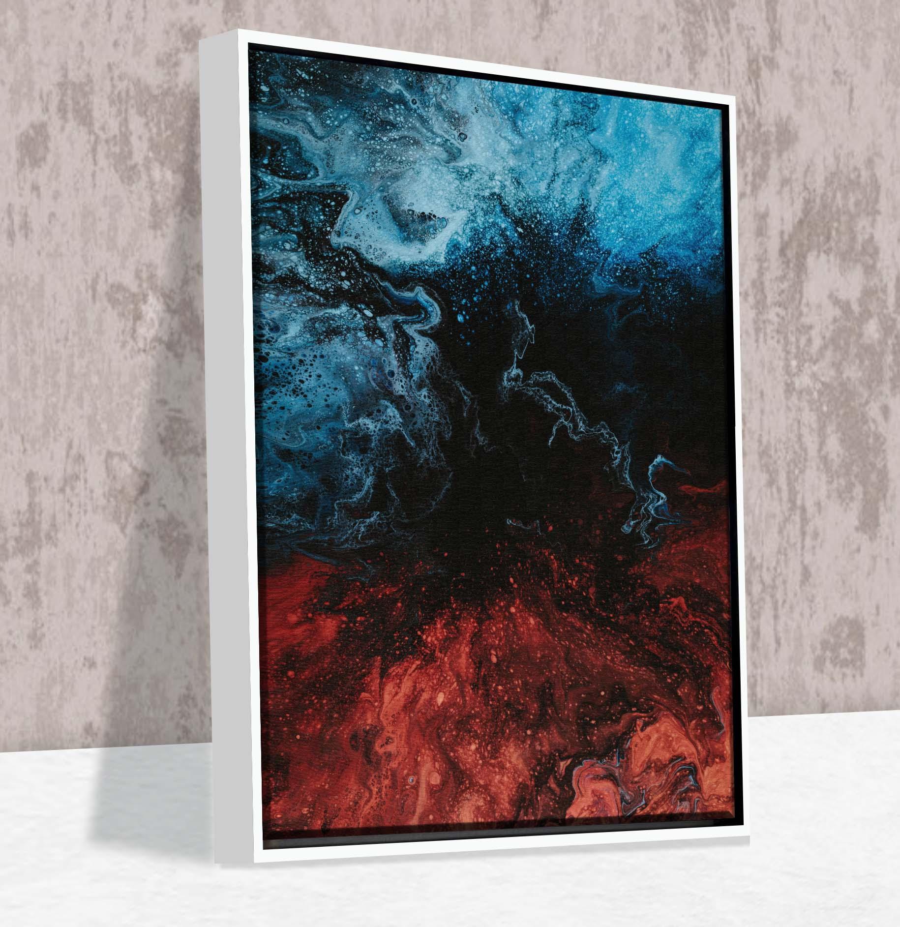 Quadro Fim Abstrato - Moldura Canaleta