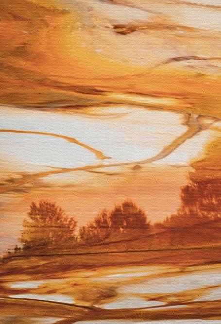 Quadro Floresta de Areia - Moldura Caneleta