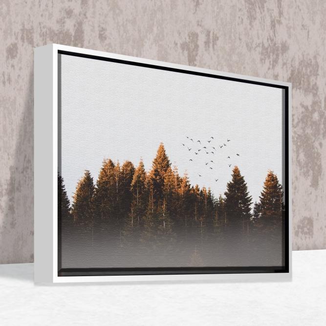 Quadro Floresta - Moldura Caneleta
