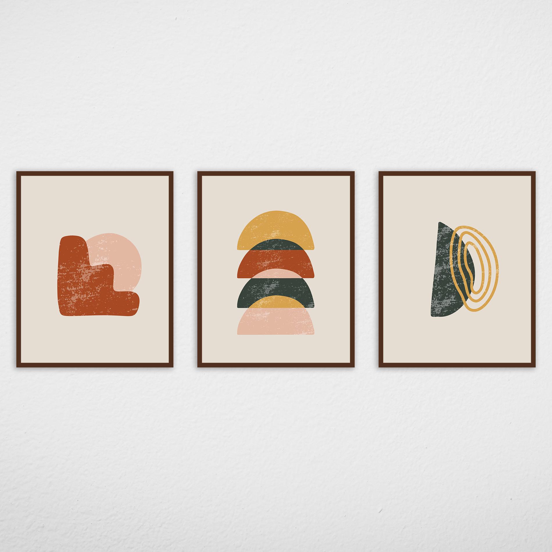 Conjunto de Quadros Formas Abstratas