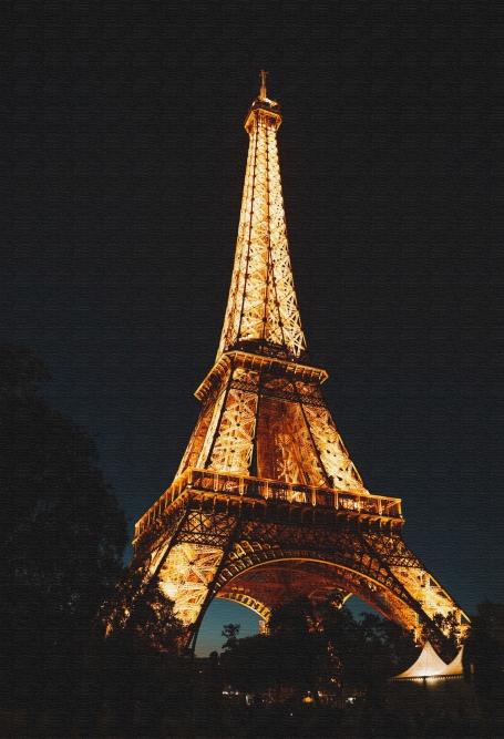 Quadro Paris - Moldura Caneleta