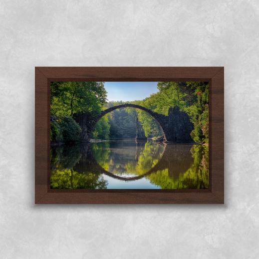 Quadro Pontes da Natureza - Moldura Tradicional com Vidro