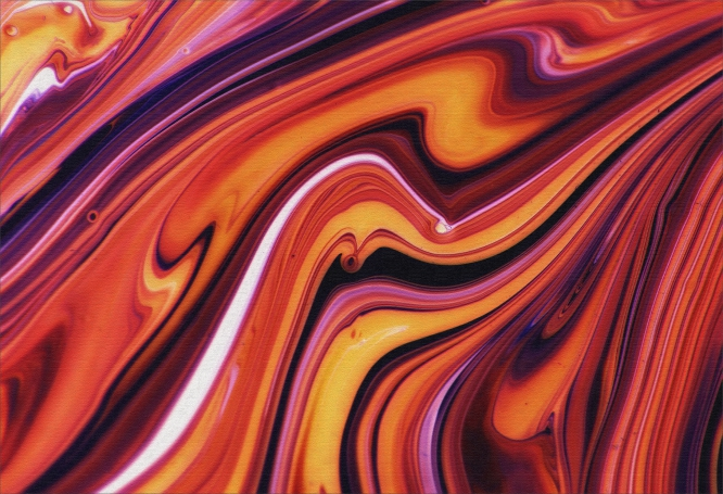 Quadro Sol Derretido - Moldura Canaleta