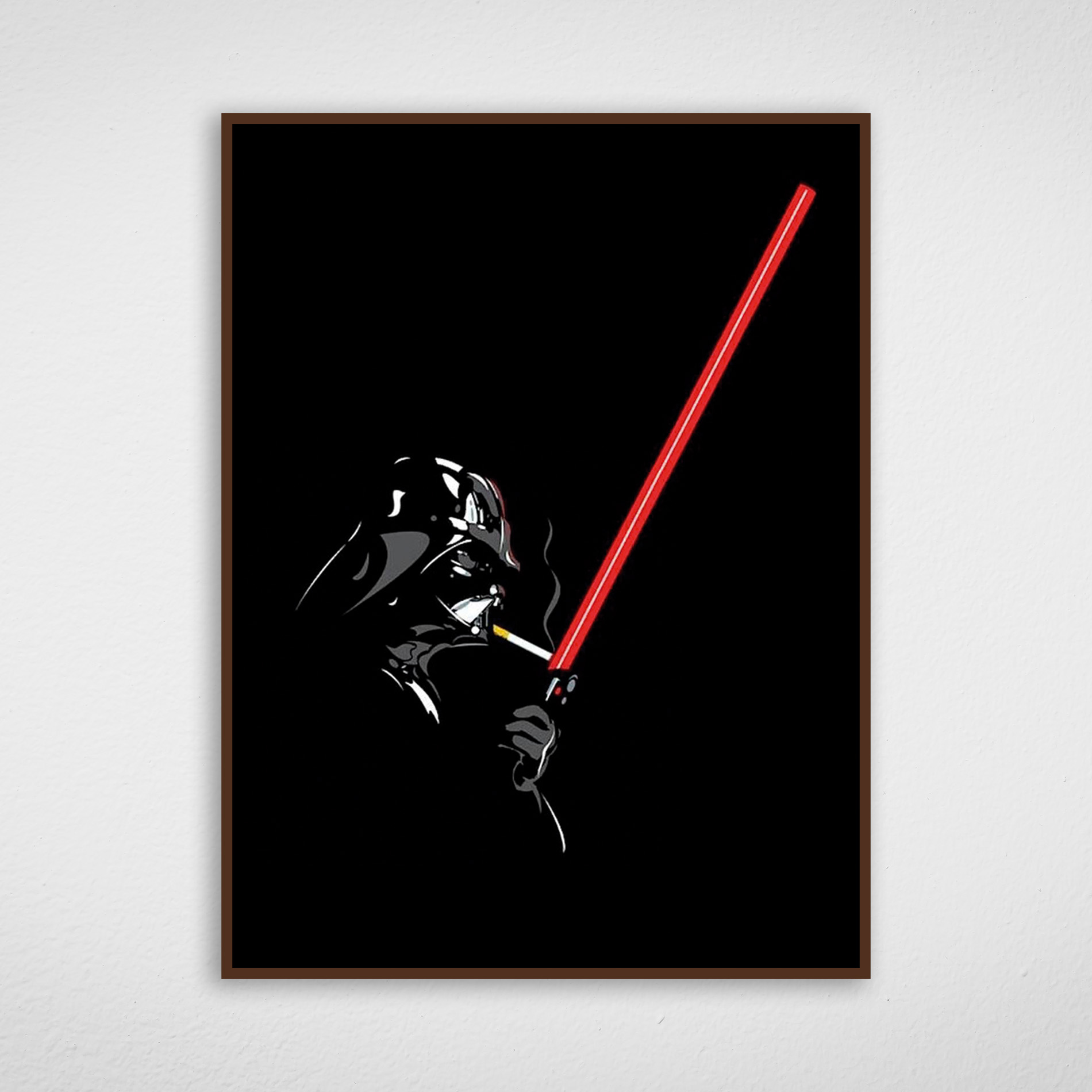 Quadro Star Wars - Darth Vader Fumando