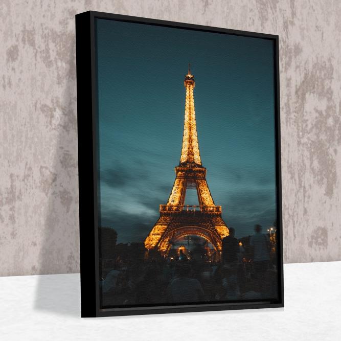 Quadro Torre Eiffel - Moldura Caneleta