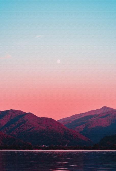 Quadros Montanhas Vermelhas - Molduras Caneletas