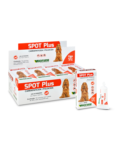 Anti Pulga e Carrapato Spot Plus de 10 até 20Kg