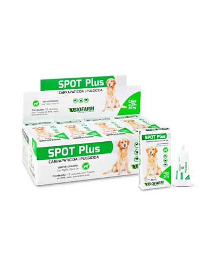 Anti Pulga e Carrapato Spot Plus de 20 até 40Kg