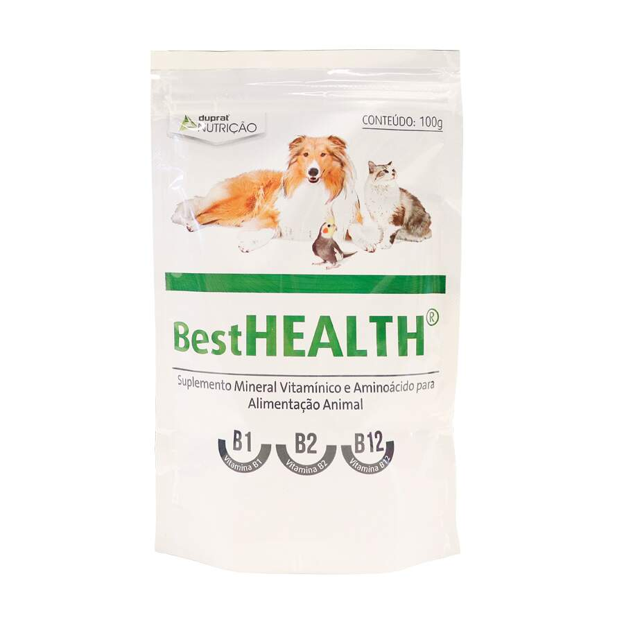 Best Health Suplemento Mineral VItaminico e Aminoacido para animais - 100g
