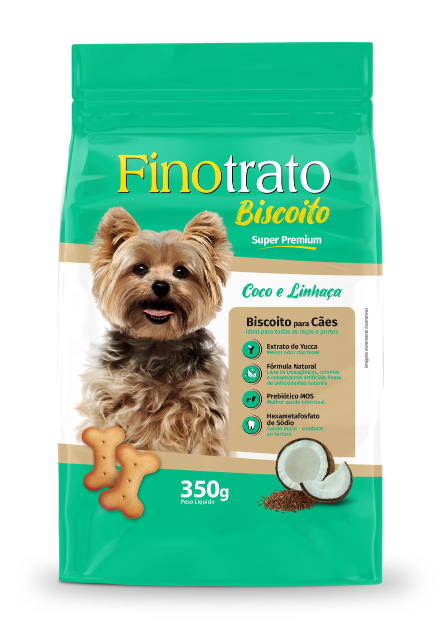 Biscoito Fino Trato Coco com Linhaça - 350g