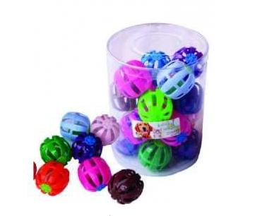 Brinquedo para Gatos Bolinha Plástica com Guizo Club Pet Import Cores Variadas - 01 Unidade