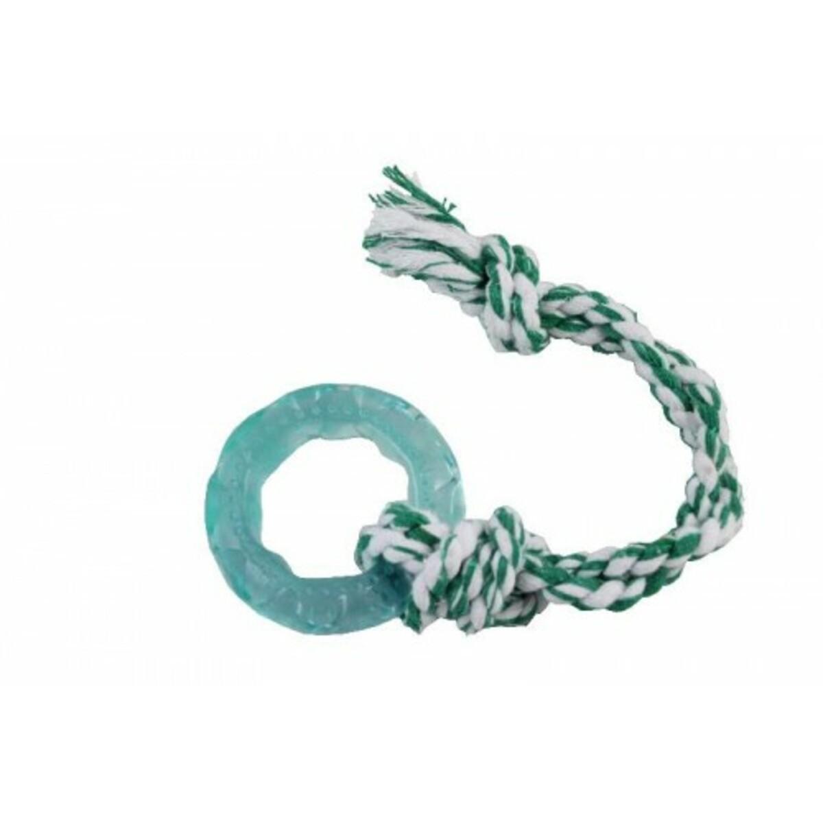 Brinquedo pneu Azul Slick Flex C/ corda  Azul e Branco