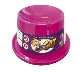 Comedouro Plástico para Gatos Super Cat Furacão Pet Rosa - 200ml